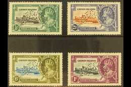 "1935  Silver Jubilee Set, ""SPECIMEN"" Perfins, SG 108s/11s, Fine Mint (4). For More Images, Please Visit Http://www.sanda - Cayman Islands"