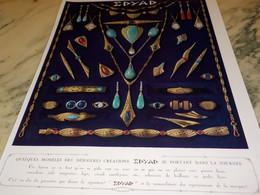 PUBLICITE AFFICHE BIJOU DERNIERE CREATION EDYAD - Jewels & Clocks