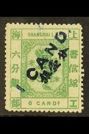 SHANGHAI MUNICIPAL POST  1877 1ca On 6ca Green, SG 69, Very Fine And Fresh Mint Og. For More Images, Please Visit Http:/ - Unclassified