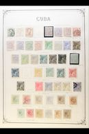 1873 - 1964 COMPREHENSIVE OLD TIME COLLECTION  Mint And Used On Printed Pages Including Good Range Of 10th Cent Issues W - Cuba