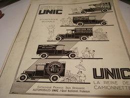 ANCIENNE PUBLICITE CAMIONNETTE 1930 - Camions