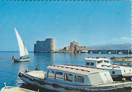 Saida Citadel & Port. Lebanon.  # 07820 - Lebanon