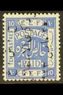1923  10p Independence Commem, Ovptd In Black Reading Downwards, SG 107A, Very Fine Mint. For More Images, Please Visit  - Jordan