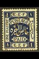 1923  1p Independence Commem, Ovptd In Gold Reading Upwards, SG 103B, Very Fine Mint. For More Images, Please Visit Http - Jordan
