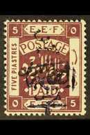 1923  1p On 5p Additional Handstamp, SG 77, Very Fine Mint. For More Images, Please Visit Http://www.sandafayre.com/item - Jordan