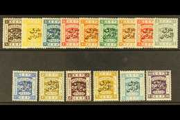 "1925  ""East Of Jordan"" Ovpt Set, Perf 14, SG 143/57, Very Fine Mint. (15 Stamps) For More Images, Please Visit Http://ww - Jordan"