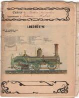 Cahier école,  1903, Complet, Illustration  LOCOMOTIVE   état B - Blotters