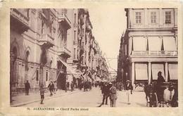 Pays Div : Ref M228- Egypte - Egypt - Alexandrie - Cherif Pacha Street - Carte Bon Etat - - Alexandria