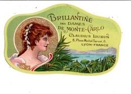 ETIQUETTE NEUVE BRILLANTINE DES DAMES DE MONTE-CARLO CLAUDIUS LUBIN LYON - Labels
