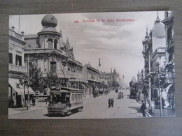 Tarjeta Postal - Uruguay Uruguaya Montevideo - Avenida 18 De Julio - 309 Editor A. Carluccio Montevideo - Uruguay