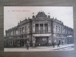 Tarjeta Postal - Uruguay Uruguaya Montevideo - Teatro Urquiza - 353 Editor A. Carluccio Montevideo - Uruguay