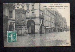 75 Paris / Inondations De 1910 / Crue De La Seine / Grenelle / La Fontaine De Neptune Rue Saint Dominique - Inondations De 1910