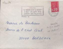 Variété Sur Lettre  Timbre 0,50 Béquet Rouge, Le P De Poste Est Obstrué - Variedades Y Curiosidades