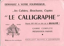 BUVARD Le CALLIGRAPHE - Stationeries (flat Articles)