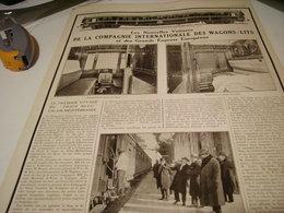 ANCIENNE PUBLICITE LES NOUVELLES VOITURES  DES WAGONS LITS 1922 - Ferrovie