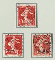 SEMEUSE Avec SOL Lot 3 Timbres N°134 Avec Charnières - 1906-38 Sower - Cameo
