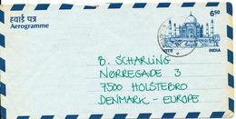 India Aerogramme Sent To Denmark 10-3-1996 - Aerograms