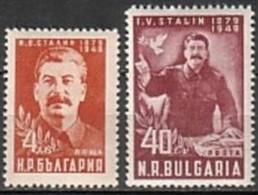 Stalin - Bulgaria / Bulgarie  1949 -  Set (Mi No 716,7,) MNH** - Célébrités