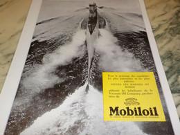 ANCIENNE PUBLICITE SOUS MARIN  ET MOBILOIL 1930 - Transportation