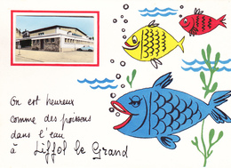 88. LIFFOL LE GRAND. RARETÉ. ON EST HEUREUX COMME DES POISSONS DAN L'EAU ....... ANNÉE 1974 - Liffol Le Grand