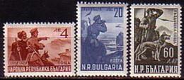 Border Guards - Bulgaria / Bulgarie  1949 -  Set (Mi No 709-1) MNH** - Militaria