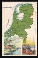 LANDKAART  - NIEDERLAND - NEDERLAND - Landkaarten