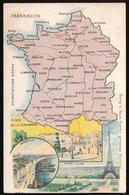 LANDKAART  - FRANKREICH - FRANCE - Landkaarten