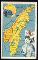 LANDKAART  - SCHWEDEN UND NORWEGEN - Landkaarten