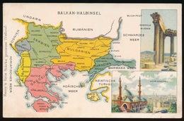 LANDKAART  - BALKAN - HALBINSEL - Landkaarten
