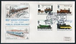1975 GB Railway First Day Cover. Trains FDC, Lyndham Manor, Paignton Devon - FDC