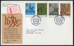1976 GB Caxton Printing First Day Cover. Westminster, British Printing Industries Federation Official FDC - FDC