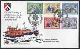 1979 GB Christmas First Day Cover. RNLB Official Cover Margate Lifeboat - FDC