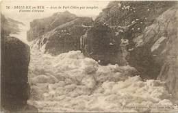 - Dpts Div.-ref-AC63- Morbihan - Belle Ile En Mer - Anse De Port Coton Jour De Tempête- Flocons D Ecume - Carte Bon Etat - Belle Ile En Mer