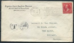 1900 USA Supreme Court, Brooklyn New York Cover - The Hague, Holland. Taxe, Postage Due - United States