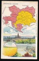 LANDKAART  - OSTERREICH - UNGARN - Landkaarten