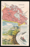 LANDKAART  - CANADA - KANADA - Landkaarten