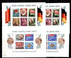 Allemagne/RDA Blocs-feuillets Karl Marx YT N° 2 Et 2A Dentelés Et Non Dentelés Neufs ** MNH. TB. A Saisir! - [6] Repubblica Democratica