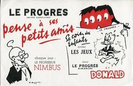 BUVARD Journal LE PROGRES + DONALD - Löschblätter, Heftumschläge