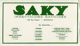 BUVARD SAKY Insecticides Raticides - Wash & Clean
