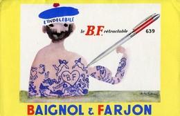 BUVARD Baignol Et Farjon Stylo - Stationeries (flat Articles)