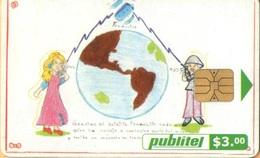 El Salvador - ELS-PUB-048B, Publitel, Satélite Traductor, 3 $, 2002, Used As Scan - El Salvador