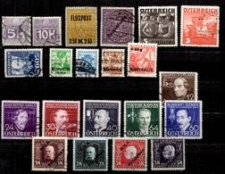 Autriche Belle Petite Collection D'anciens Oblitérés 1915/1936. Bonnes Valeurs. B/TB. A Saisir! - Sammlungen