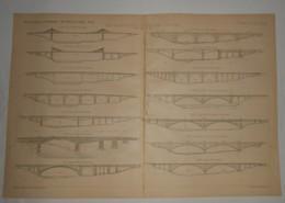 Plan Du Pont Washington Sur Le Harlem River à New York. 1891. - Travaux Publics