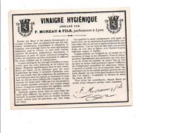 ETIQUETTE NEUVE VINAIGRE HYGIENIQUE F. MOREAU LYON - Etiquettes