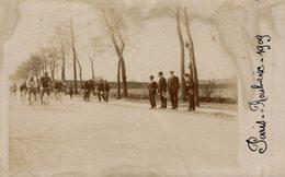 CARTE PHOTO PARIS ROUBAIS  1909  (bien Timbree) - Cycling