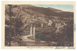 Cpa Pont De Vaure - La Gare Et Bransac ( Pont Suspendu ) - France