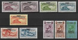AEF - YT N° 17/26 * - CHARNIERE CORRECTE - COTE = 80 EUR. - A.E.F. (1936-1958)