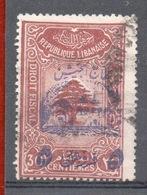 LIBANO REPUBLIQUE LIBANAISE 30 C. SOPRASTAMPATO - Libano