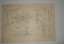 Plan Du Tramway Funiculaire Du Pont De Brooklyn à New York. 1891. - Travaux Publics