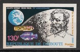 Djibouti - 1980 - N°Yv. 524 - Jules Verne - Non Dentelé / Imperf. - Neuf Luxe ** / MNH / Postfrisch - Djibouti (1977-...)